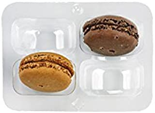 """Clear Plastic Macaron Insert with Clip Closure (Case of 50), PacknWood - Macaron Cookie Container Box (2.9"""" x 4.2"""") PK210MACINS4"""