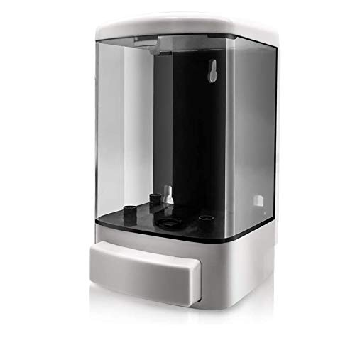 GreeSuit 1000ML Dispensador de Jabón Manual Plástico Montado en la Pared Champú Acondicionador Ducha Gel Cámara Dispensador Jabón Bomba para Baño o Cocina