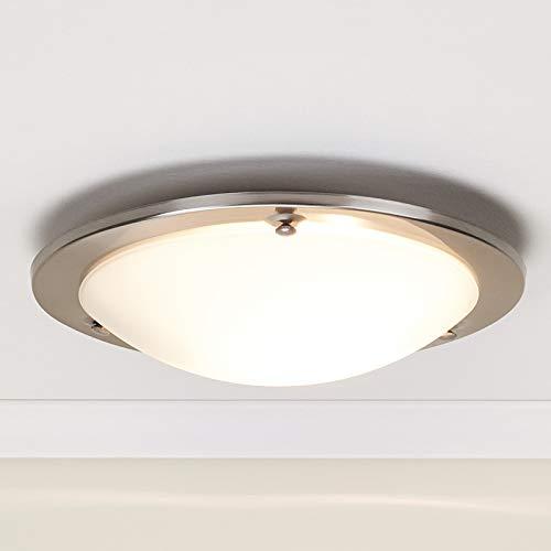 Lindby Deckenlampe 'Rebecca' (Modern) in Weiß aus Glas u.a. für Flur & Treppenhaus (1 flammig, E27, A++) - Deckenleuchte, Lampe, Flurleuchte