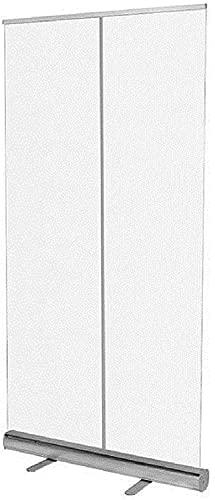 KMILE Banner transparente enrollable para estornudos, pantalla de distancia social, pantalla de partición transparente de pie, montaje rápido y fácil (color 80 x 200 cm, tamaño: 80 x 200 cm)
