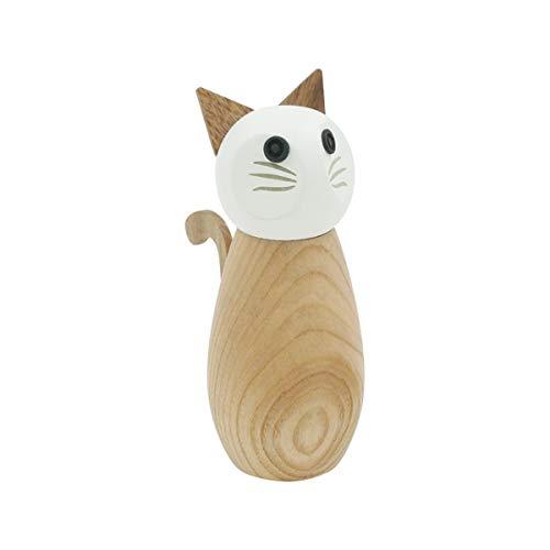 Peterson Housewares Salz- oder Pfeffermühle Katze – Gewürzmühle aus Holz
