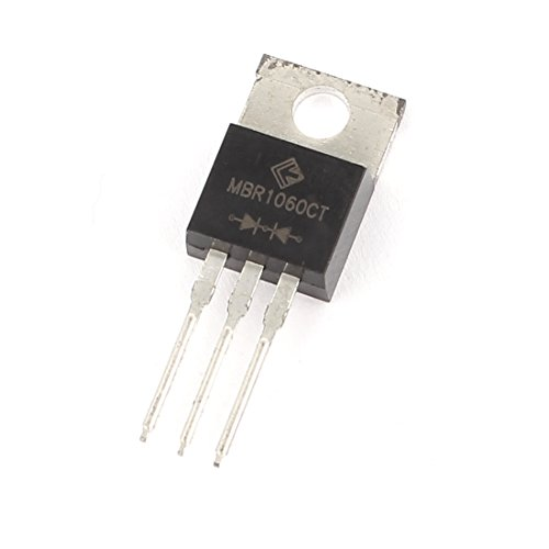 uxcell 60V 10A 3 Pin Terminals MBR1060C TO-220 Bipolar Low Power Transistor