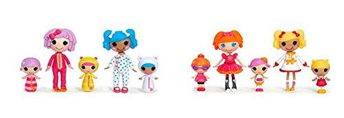 Lalaloopsy Mini Dolls Multi-Pack School Days & Silly Sleep Over Bundle