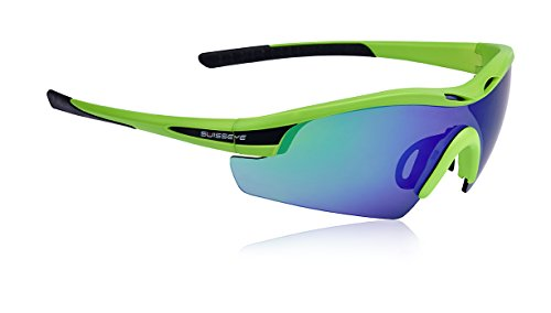 Swiss Eye Sportbrille Novena S RX, Neon Green Matt/Black, One Size, 12490RX