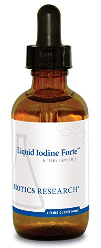 Biotics Research Liquid Iodine Forte Supports Healthy Thyroid Function, maintains Healthy Iodine Levels, Provides metabolic Support, Potent antioxidant. 2 Fluid Ounces