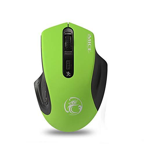 YAzNdom Mouse 2.4G Ultradunne draadloze muis met nano-ontvanger zonder ruisonderdrukking Klik op 1600 DPI voor pc-laptoptablet en Mac Geschikt voor computers en laptops