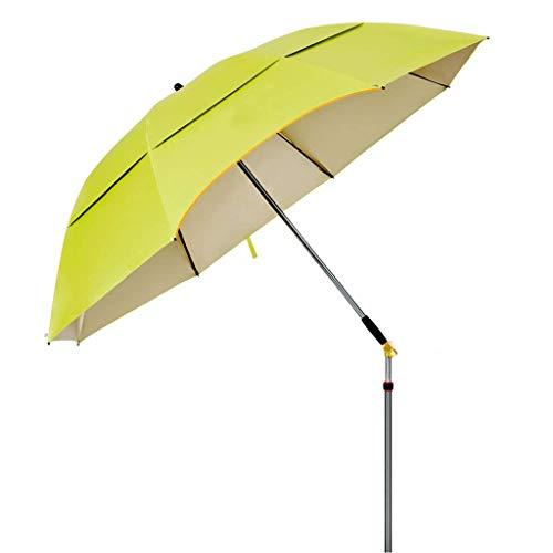 AWJ Toldos portátiles, sombrillas, sombrilla de Pesca, inclinable, Aislamiento térmico, Resistencia a los Rayos UV, de Uso común en Jardines, Playas, terrazas (sin Base)