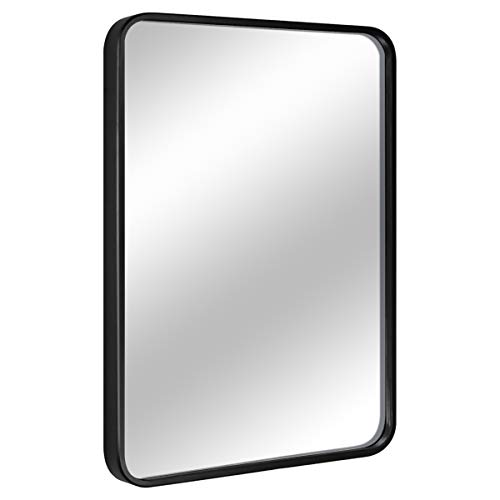 "EPRICA Wall Mirror for Bathroom, Rectangle Mirror with 1"" Black Metal Frame for Bathroom, Entryway, Living Room & More, Hangs Horizontal Or Vertical (30 x 20"")"