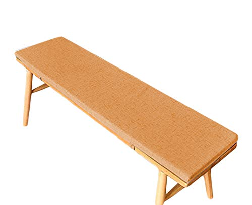 jHuanic Bench Cushion Pad Mat Garden Swing Pad Outdoor Long Chair Mat Thick Shoe Rack Cushion Indoor Dining Pad for 2 3 Seaters (Orange,30x120x5cm)