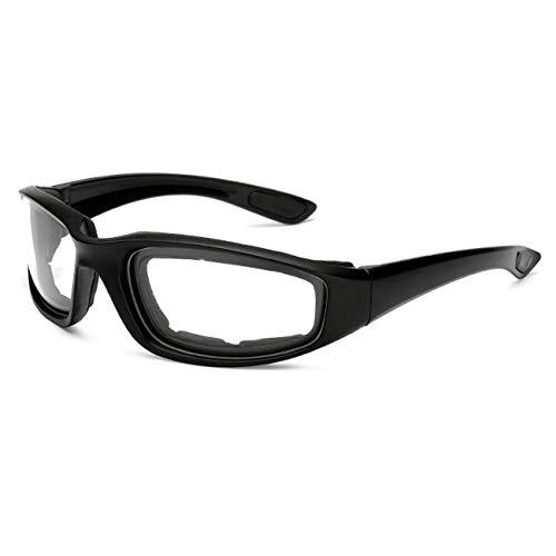 Tree-on-Life Gafas de Moto a Prueba de Viento Hombres Gafas de Moto de Moto UV Retro Vintage Gafas de Ciclismo de esquí al Aire Libre Gafas de equitación