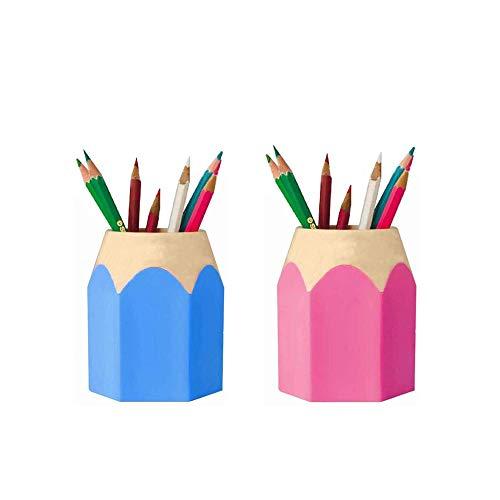Stifthalter Aufbewahrungstopf, Studenten Büro Schulbedarf, Schreibtisch Organizer,Multifunktionales Nette Bleistift Förmigen Federhalte für Bürobedarf wie Kugelschreiber, Bleistifte,Notizen,Dauerhaft