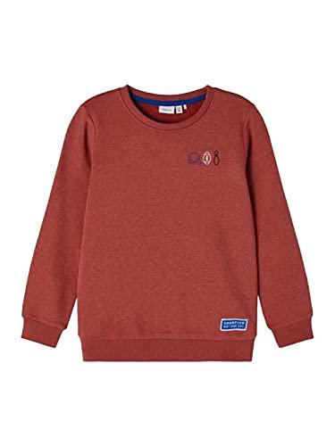 NAME IT KIDS Jungen NKMLESCHO LS SWEAT BRU Sweatshirt, Chili Oil, 122-128