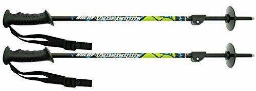 SULOV Niños telescópico–Bastones de esquí, Color Negro, 60–100cm