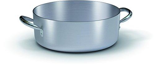 BALLARINI Professionnelle Casserole Basse avec 2 poignées, Aluminium, Gris, 50 cm
