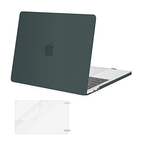 MOSISO MacBook Pro 13 inch Case 2020 2019 2018 2017 2016 Release A2338 M1 A2289 A2251 A2159 A1989 A1706 A1708, Plastic Hard Shell&Screen Protector Compatible with MacBook Pro 13 inch, Midnight Green
