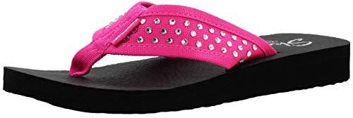 Skechers Cali Women's Meditation-Rhineston Flip Flop,Fuchsia,9 M US