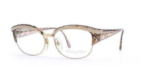 Christian Dior Damen Brillengestell Braun Braun, Gold