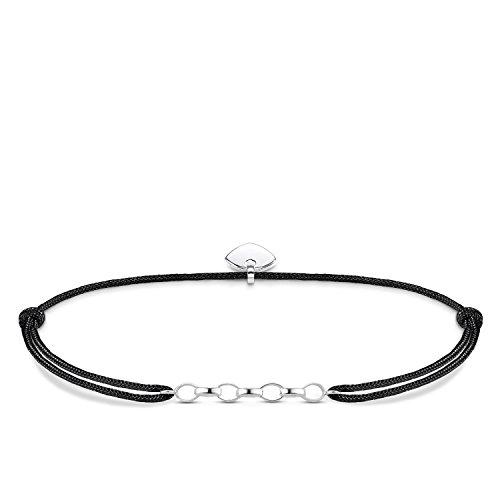 Thomas Sabo Damen-Armband Little Secret 925 Sterling Silber Schwarz LS050-173-11-L20v