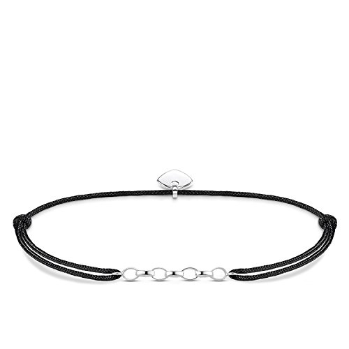 Thomas Sabo Damen-Armband Little Secret  925 Sterling Silber Schwarz LS050-173-11-L20v
