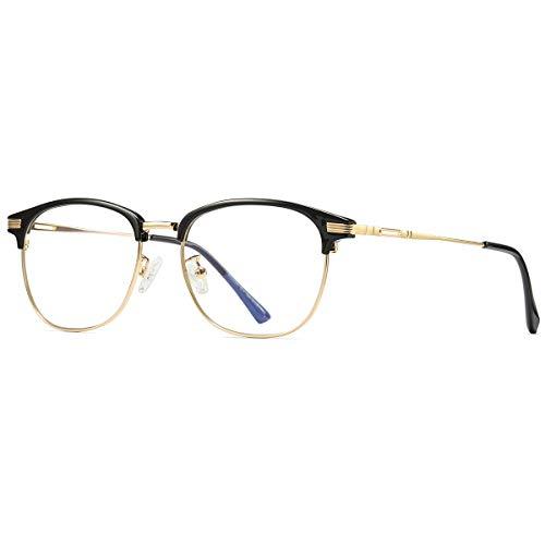 Blaulichtfilter Brille Computer Gaming Brillen Blaue Licht Blockieren Brille Anti Blaulicht Brille UV-Schutz für Damen Herren Gold