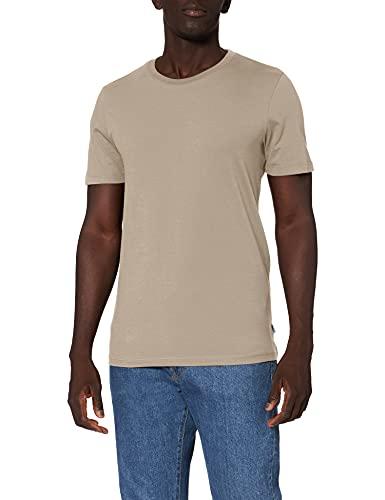 Jack & Jones NOS Jjeorganic Basic Tee SS O-Neck Noos T-Shirt, Beige (Beige), Large Homme