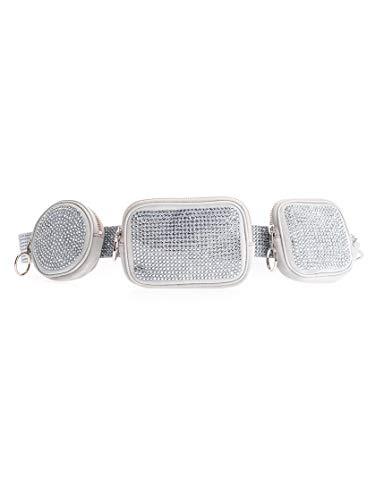 Luxury Fashion | Off-white Dames OWZG018F19F960509600 Zilver Leer Riemen | Herfst-winter 19