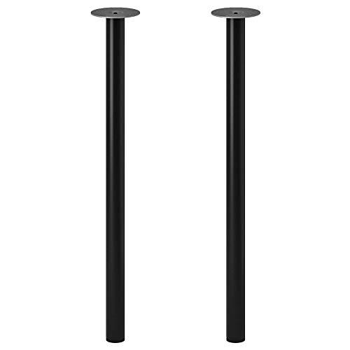 IKEA ADILS stalowe nogi tylko 70 cm, wytrzymałe nogi stojące do stołu [2 w 1 opakowaniu czarne]