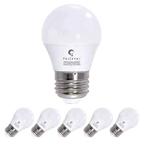 60 Watt Equivalent Led Bulb with Standard E26 Screw Base, 600 Lumens Frosted A15 Led Ceiling Fan Lamps, 6W Led Refrigerator Bulbs, Daylight 5000K, Non-Dimmable| 6-Pack