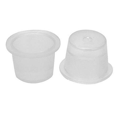 Plastique Jetables Coupes d'encre De Tatouage Maquillage Permanent Pigment Container Cap Tattoo Accessoires 100pcs (s)