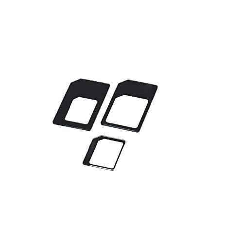 Adaptador De Tarjeta Sim, Reemplazo De La Bandeja De Tarjeta Sim, La Bandeja De Tarjeta Sd, Práctico Nano Sim Adaptador Micro Sim Adaptador Nano Adaptador De Tarjeta Micro Sim Convertidor, Negro