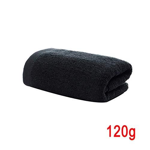 CICI Maletín Negro en una Toalla Suave de algodón Puro para los hoteles de baño Lavable de Alta absorción rápida Sauna Toalla de Secado, colección máquina de Gimnasio de usos múltiples,120g to.