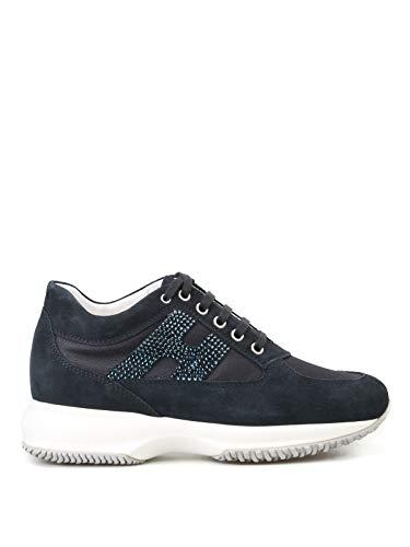 Hogan Damen Hxw00n02011fi70071 Blau Stoff Sneakers