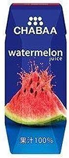 CHABAA(チャバ) 果汁100% ジュース ウォーターメロン 180ml×6本入