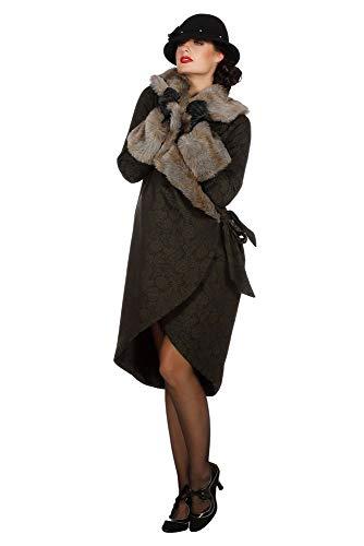 shoperama Elegante abrigo de mujer aos 20 con pelo de imitacin de pelo charleston, accesorio de disfraz Roaring Twenties 20's, talla: 42
