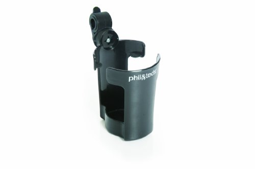 phil&teds Thirsty Works Cup Holder for Classic/Explorer Strollers, Black