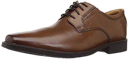 Clarks Tilden Plain Zapatos de cordones derby Hombre, Marrón (Dark Tan Lea), 43