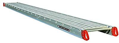"""Louisville Ladder 24-Foot Aluminum Scaffold Plank, 250-Pound Capacity, P11224, 12"""" Wide x Long, Silver"""