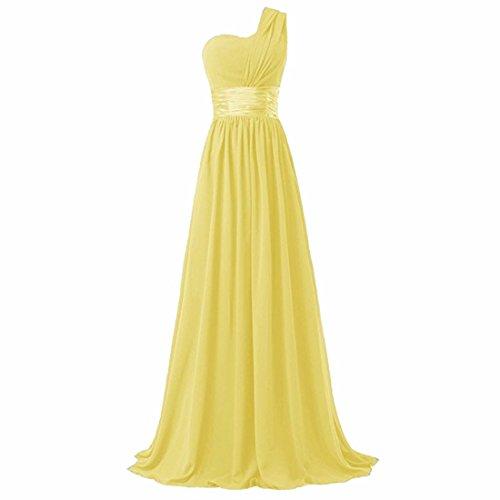Vestido amarillo largo para bodas y celebraciones