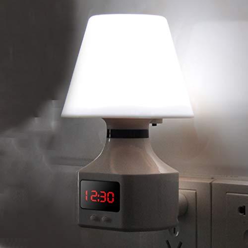 TXTC Digitaal nachtlampje, dimbaar, nachtlampje, stekkerdoos met schakelaar, O kinderslaapkamer, keuken