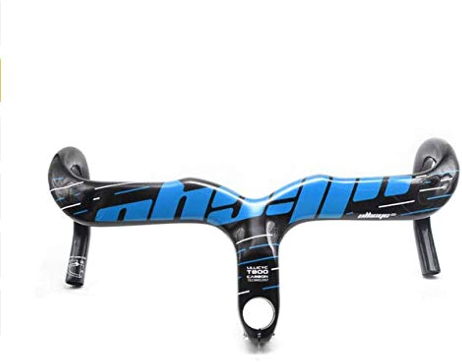 FidgetGear Carbon Road Bicycle Handlebar Integrated with Stem (400,420,440mm) blueee 420mm 90mm Matte