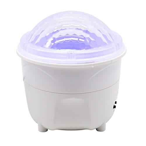 Mobestech Projector Nachtlampje Kleurrijke Muziek Roterende Oceaan Ster Projectielamp Usb Opladen Projectielicht Voor Thuis (Wit)