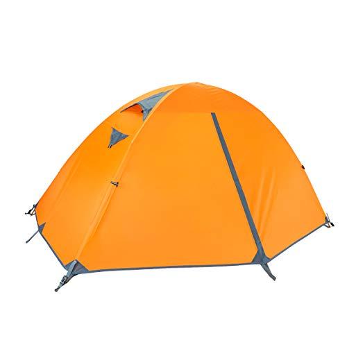 TRIWONDER 3 Stagioni Tenda da Campeggio 1 Posto, Tenda Ultraleggera da Spiaggia Mare Pesca Escursionismo Trekking (Arancione - 1 Persona)