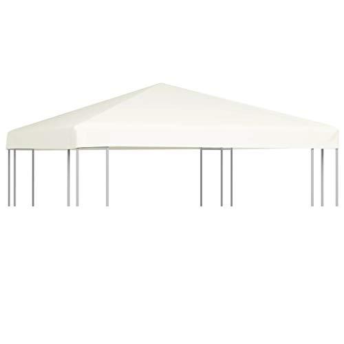 vidaXL Pavillon Abdeckung 310 g/m² 3x3 m Creme Ersatzdach Partyzelt Plane
