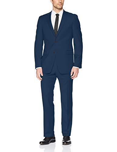 Tommy Hilfiger Men's Slim Fit Performance Suit with Stretch, Medium Blue, 42 Regular