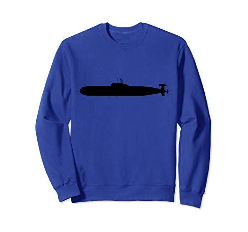 U-Boot Unterwasser-Schiff Silhouette Sweatshirt