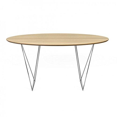 Paris Prix - Temahome - Table De Repas Row 150cm Chêne & Argent
