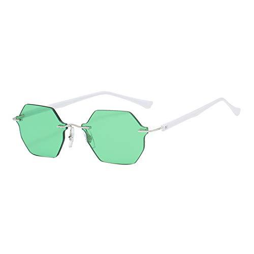 Hellery Gafas de Sol Modernas para Mujer sin Montura Gafas de Sol Antideslizantes para Hombre Gafas de Sol para Deportes al Aire Libre con gradiente UV400 - Verde