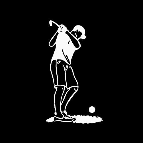 SHMAZ 10 * 18,2 CM Golf Deporte decoración Coche Modelado Pegatina Vinilo Accesorios de Movimiento Extremo