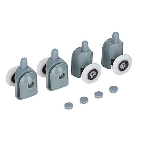 Rodillos de puerta de ducha Rodillos de puerta corredera de baño Corredores de rueda de puerta de vidrio a prueba de óxido para el baño del hogar(Single wheel)