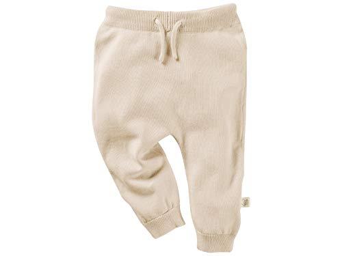 Bio Baby Strickhose 100% Bio-Baumwolle (kbA) GOTS zertifiziert, Beige Melange, 74/80